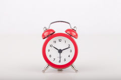 Red alarm clock Stock Photos
