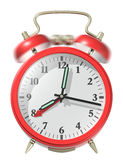 Red alarm clock ringing. Stock Image