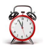 Red alarm clock royalty free illustration