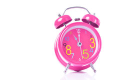 Free Red Alarm Clock Show 11 O Clock Royalty Free Stock Photography - 56664757