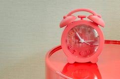 Red alarm clock Stock Photos