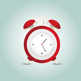 Red alarm clock. Stock Photos