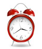 Red alarm clock. Vector Royalty Free Stock Photography