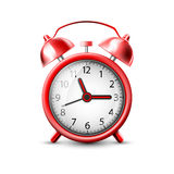 Red alarm clock. Vector image of a red alarm clock Stock Images