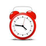 Red Alarm Clock. Vector Time Icon Royalty Free Stock Images