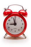 Red alarm clock. Wake up Royalty Free Stock Photography