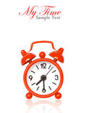 Red alarm clock on white Stock Image