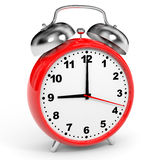 Red alarm clock. Royalty Free Stock Image