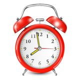 Red Alarm Clock  On White. Stock Image