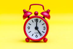 Red Alarm Clock Royalty Free Stock Photography