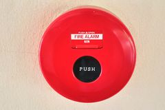 The red Alarm Fire bell Royalty Free Stock Photo