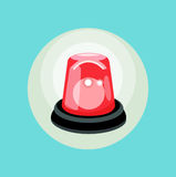 Red alarm flat design vector. Icon Royalty Free Stock Images
