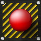 Red alarm shiny button Royalty Free Stock Photo