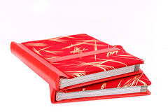 Red Album. 2 red album isolated on a white background Stock Photos