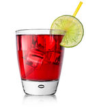 Red alcohol cocktail Stock Photo