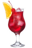 Red alcohol cocktail with orange slice Stock Photo