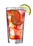 Red alcoholic cocktail Royalty Free Stock Photo