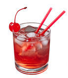 Red alcoholic cocktail Stock Images