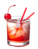 Red alcoholic cocktail Royalty Free Stock Photos