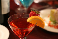 Red alcoholic cocktail drink Royalty Free Stock Photos