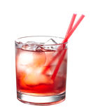 Red alcoholic cocktail Royalty Free Stock Images