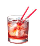 Red alcoholic cocktail Stock Photo