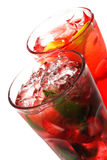 Red Alcoholic Cocktails Stock Images