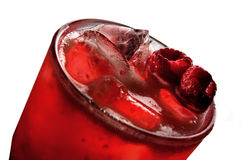 Red alcoholic cocktails with ice Stock Image