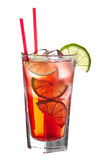 Red alcoholic coctail Royalty Free Stock Photo