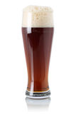 Red Ale beer in glass with foam. Red Ale beer in a glass with foam, isolated on a white background Royalty Free Stock Photography