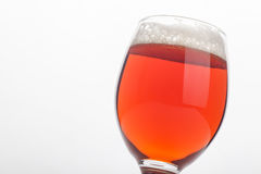 Red ale over white Stock Photo