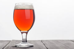 Red ale over white Stock Images