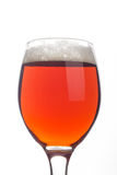 Red ale over white Royalty Free Stock Images