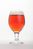 Red ale over white Stock Photos