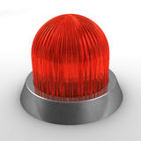 Red alert. Isolated red alert light on white background Stock Photos