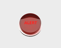 Red alert button Stock Photos