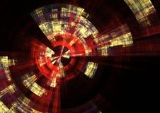 Red alert2. Detail view of sonar screen in fractal form vector illustration