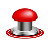 Red alert push button Stock Photos