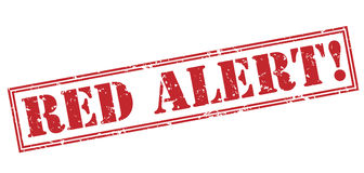 Red alert! red stamp. On white background Royalty Free Stock Images