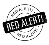 Red Alert rubber stamp Stock Image