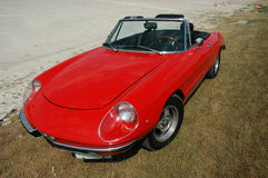 Red Alfa Romeo. Convertible sports car royalty free stock photo