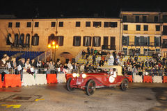Red Alfa Romeo 6C 1750 Gran Sport in Padua Royalty Free Stock Photography