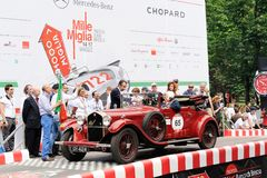 A red Alfa Romeo 6C 1750 GT Royalty Free Stock Photography