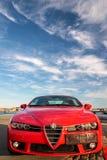 Red Alfa Romeo sports car Stock Photo