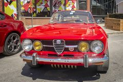 Red Alfaromeo car Royalty Free Stock Images