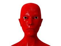 Red Alien portrait Stock Image