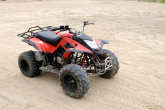 A red all terrain vehicle Stock Image