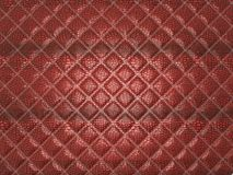 Red Alligator stitched skin. Useful as texture. Or background Royalty Free Stock Image