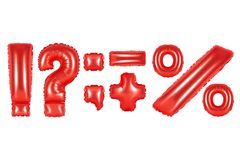 Punctuation marks, red color Royalty Free Stock Photo