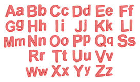 Red alphabet, large and small  letters, 3D rendering Stock Image